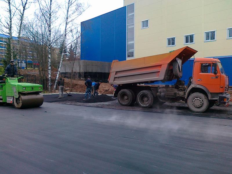 Качественная укладка асфальта в Москве